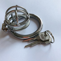 New Stainless Steel Male Chastity Cage Locking Metal Cock Ca...