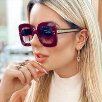 Occhiali da sole quadrati da sole Big Frame Sfumature sfumature per le donne Oversized Occhiali da sole di alta qualità Glasss UV4001