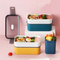 Healthy Material Lunch Box Wheat Straw Bento Boxes Microwave...
