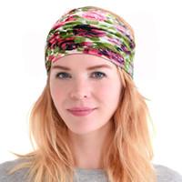 Designer Headband Etnico Etnico Floral Hair Band Stampato Larghezza Testa Bands Retro Sport Yoga Bandanas Accessori per capelli 45 Design opzionale