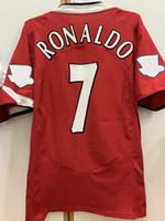 레트로 클래식 2004 2005 2006 축구 유니폼 맨체스터 V.Nistelrooy Giggs Beckham Ronaldo 04/06 레트로 축구 셔츠 S-2XL