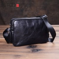HBP AETOO Vintage handmade men's shoulder bags, leather slanted bags, men's business casual fashion small bags, men's fashion bags
