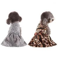Leopard Print Sexy Dog жгут платье Петус весенние Летняя одежда Жилетные Рубашки Кружева Платье Симпатичные Pet Dog1