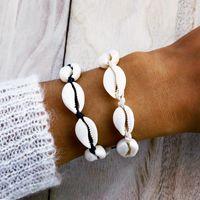 Bracciali Bracciali spiaggia fatta a mano per le donne moda casual conchiglie naturali gioielli braccialetto intrecciato epoca