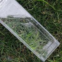 500 ml Tasse carrée transparente tasse de lait en plastique carton bouteilles bouteilles de café boissons portatives élève mugs personnalité 5 8js f2