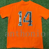 Top 2002 Hollands Jerseys de futebol Seeforf 10 Kluivert 9 V.Nistelrooy 8 Retro Vintage Clássico de Tailândia Uniforme Cruyff 14 Camisas de Futebol 1974 Treinamento Treinamento Tamanho S-XXL