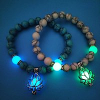 Beaded, Strands Kralen Armbanden Yoga Energie-Emitting Lotus Elastische Kralen Armband Europa Hand Sieraden Strand Titanium Stone Unisex