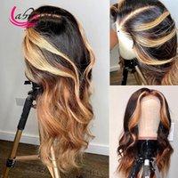 Lace perucas onda corporal hd transparente 13x6 frontal cabelo humano destaque mel loira dianteira peruca lixívia knots pré arranjar glesseless
