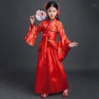 Oude Chinese jurk meisjes kinderen kimono traditionele etnische fan studenten chorus dance kostuum Japanse yukata kimono stijl1