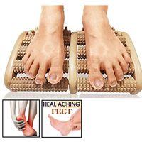 3 5 Raw piede rullo di legno di legno di massaggio di cura Riflessologia Relax Spa Massager di rilievo regalo Anti Cellulite Massager del piede strumento di cura