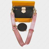 Top qualität frauen umhängetasche mit box staubbeutel karte 3 stücke handtasche designer taschen mit box mode klassische kreuz body tasche