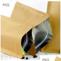 20pcs 작은 크래프트 종이 지퍼 잠금 가방 내부 알루미늄 호일 주머니 재사용 가능한 플랫 PA BBYXJL BDESPORTS