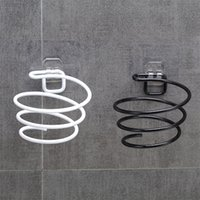 Suportes simples de armazenamento de cabelo secador de ar de metal rack de ar preto preto cor casa de banho home stand wall 2 8ds e1