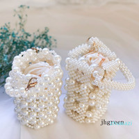 Hand Bags Palm Pearl Bridal And Lady Handbag Retro Handmade ...