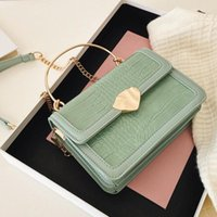 Stone Pattern Square Tote Bag 2021 Fashion New High-quality PU Leather Women's Designer Bag Chain Shoulder Messenger