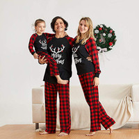 2020 Occasioni speciali 2020 Natale Adulto Bambini Baby Romper Buon Natale Famiglia Abbigliamento per famiglie