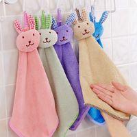 منشفة المرجان المخملية أرنب النمذجة اليد منشفة 6 لون المطبخ مناديل الكرتون لطيف أزياء منشفة منشفة مسح القماش hha2990