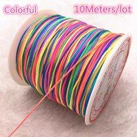 0.4 1,5 mm 10 metros de metros de cuerda de nylon cuerda chino nudo macrame cordón pulsera trenzado cadena bricolaje tassel de abalorios hilo H jllwwk