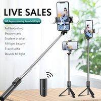 Selfie Monopods Cep Telefonu için LED Işık Tripod Sopa Po Canlı Yayın Ücretli Bluetooth Uzaktan Kumanda Standı