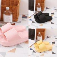 MNJTT Designer Muebles para el hogar Color puro grueso resbalón de fondo de la parte inferior de la zapatilla de la zapatilla de la zapatilla de la zapatilla de lujo de la mujer