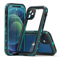 Für iPhone 11 12 xs max x 8 7 plus Samsung Galaxy S20 Anmerkung 20 Wasserdichte Gehäuseabdeckung Wasserstoßfestes Funkgerät