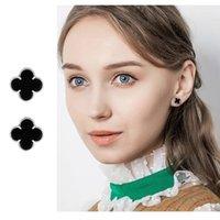 Commercio all'ingrosso progettista orecchini argento sterling 925 placcato Orecchini Piccolo Four Leaf Clover orecchini di fascino per i monili delle donne