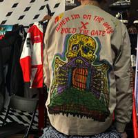 Europäische und amerikanische High Street Kanye West Chicago Limited Lose Rundhals Pullover Männer und Frauen Ins Kanye Pullover