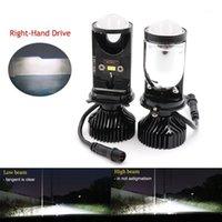 12V24V 20000LM Canbus 90 W / Accoppia lampada H4 LED Mini proiettore Lens Automobili Bulb Kit di conversione della lampadina Hi / Lo faro del fascio del faro1