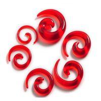 12pcs / Set Acrilico a spirale a spirale Ear Stretching TAPER Body Jewelry Mix lotti 2-8mm Acrilico Acrilico Tabel FAKE EAR Espandi Jlljww YY_DHHHOME