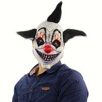 Party Masks 2021 Хэллоуин Ужас Колдун Клоун Маска Призрачный Дом Комната Побег Одевание в прямом эфире Показать страшную голову