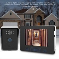 7-Zoll-Wireless-Kamera-Fingerabdruck-Video-Türklingel-Intercom-Digital-Türsprechanlage 2.4GHz1