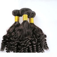 Mink Jungfrau Menschliche Haarverlängerungen Brasilianische Haarbündel Funmi FEFTS Unverarbeitete peruanische indische mongolische böhmische Haare webt Großhandel