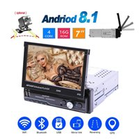 Android 1 DIN Car Multimedia Player 7 pollici Touch Screen GPS Navigazione GPS Stereo MP5 Player Bluetooth USB Radio FM con fotocamera