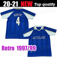 1997 1999 Zola Vialli Weise Retro Fussball Jersey 1998 Leboeuf di Matteo Hughes Deailly Gullit Vintage Classic Football Shirt