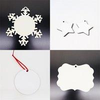Articoli da regalo di Natale di sublimazione Blanks ornamenti ciondolo fai da te legnosità decorazioni in stile Albero circolare Stelle Ciondoli europeo 1 13bd F2