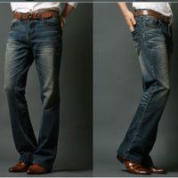 Icpans Erkek Flared Jeans Bootcut Boot Kesim Kot Erkekler Bacak Fit Klasik Denim Flare Vintage Erkek Düz Pantolon