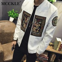 Mcckle Куртка Мужчины 2018 Новая Мода Китайский Лонг-Пао Куртки Мужчины Slim Fit С Длинным Рукавом Повседневная Мужская Пищевая Пальто Plus Size1