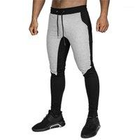 Мужские брюки повседневные фитнес мужские бегуны трексуита дна тощие спортивные штаны мужчины трексуты 3201