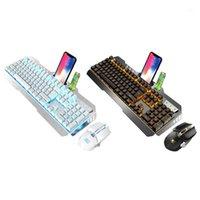 키보드 마우스 콤보 2.4G 무선 세트 DPI 조정 가능한 충전식 인체 공학적 백라이트 마우스 PC Computer1