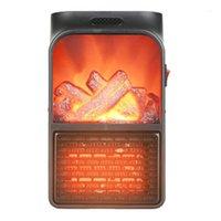 Creative Mini Home Flame Calentador de llama Simulación de Llama Mini Calentador Ventilador Portátil Escritorio Aire Hot Air Fan1