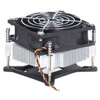 Dizüstü Soğutma Pedleri için 1155 1156 1150 Bakır Çekirdek Radyatör 4 Teller PWM Dilsiz Bilgisayar I3 CPU Soğutucu Fan1