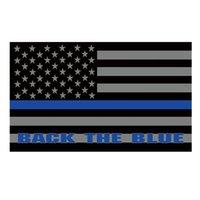 Zurück The Blue American Police Flag Doppelt genähte Flagge 3x5 FT Banner 90x150cm Partei-Geschenk 100D Printed Heißer Verkauf!