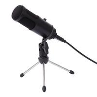 PC Dizüstü Bilgisayar için Mikrofon Ayarlama Hacmi ile Profesyonel USB Kondansatör Mikrofon Bilgisayar Kayıt Mikrofon