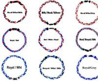Trenzados Titanium Collares 3-cuerda de béisbol Deportes Gargantilla Collar