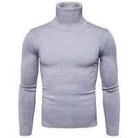 Favocent hiver Sweacheck Turtleneck Hommes Mode Solide Tricoté Homme Sweaters Casual Collier Mâle Collier Slim Fit Pullover LJ200916