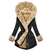 Veste d'hiver pour femmes 2021 Faux manteau de fourrure longue Parka FAUx FAUX COLLUL HOPH TÊTE ELLE TEMPS ÉTYLES STREETWEAR ÉTUYLY OUTWEAR1
