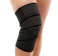 Coupeaux de genouils 1pcs Bandage élastique Bandage Bandage Tampon à chaud Running Outdoor Sports Leggings anti-sincère Protect peluche