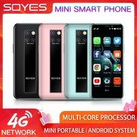 مقفلة 4G LTE رقيقة جدا مصغرة الهاتف الذكي SOYES S10-H RAM 3GB ROM 64GB Android 9.0 طالب خلية الهاتف المحمول التعرف على Google Player