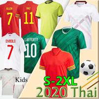 2020 2021 북 아일랜드 축구 유니폼 Evans Lewis Saville Davis Whyte Lafferty Man + Kids Bale Wales Switzerl 축구 셔츠 유니폼