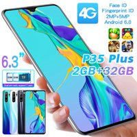 P35plus Cross-Border Expansion Android Smartphone 6.3 Inch Large Memory 2 32 Water Drop HD 4G Smartphone Free Shipping